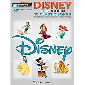 Hal-Leonard-Disney---Violin---Easy-Instrumental-Play-Along-Book-with-Online-Audio-Tracks-Standard