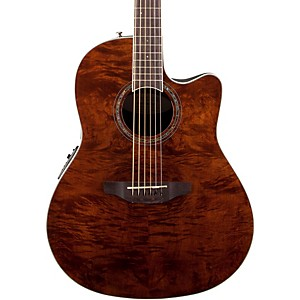 Ovation-Celebrity-Standard-Plus-Mid-Depth-Cutaway-Acoustic-Electric-Guitar-Nutmeg-Burled-Maple
