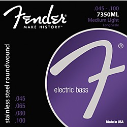 fender 7350ML Stainless Steel Long Scale Bass Strings - Medium Light (0737350405)