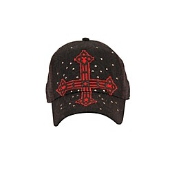 fender Cross Applique Trucker Hat (01124BKO)