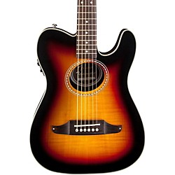 fender Telecoustic Premier Flame Maple Acoustic-Electric Guitar (0968716032)