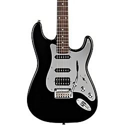 squier Black and Chrome Fat Strat Electric Guitar (0321703506)