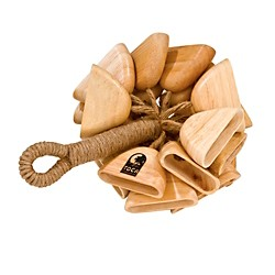 toca Wood Rattle on Handle (T-WRH)