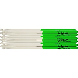 zildjian Maple Green DIP Drumsticks 6-Pack (S7AMG-6Pk)