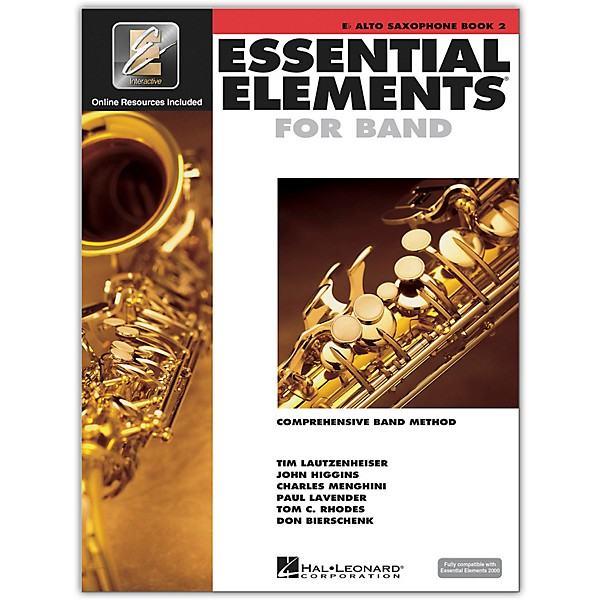 Hal Leonard Essential Elements for Band - Eb Alto Saxophone 2 Book/Online  Audio