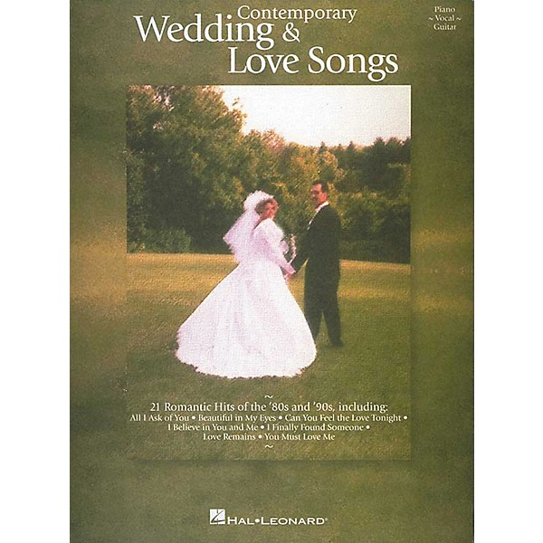 Hal Leonard Contemporary Wedding And Love Songs Piano