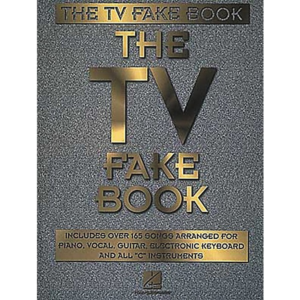 Hal Leonard The Tv Fake Book Pianovocalguitar Songbook