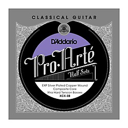 456dfa342334 D Addario XCX-3B Pro-Arte Extra Hard Tension Classical Guitar Strings Half
