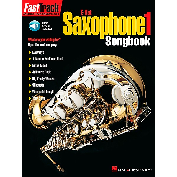 Hal Leonard FastTrack E Flat Alto Saxophone Songbook 1 Level 1 Book/CD