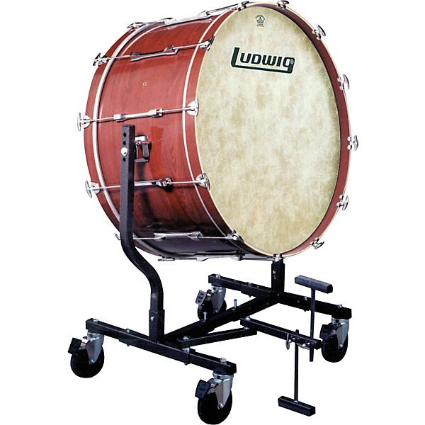 ludwig concert bass drum w fiberskyn heads le787 stand music arts. Black Bedroom Furniture Sets. Home Design Ideas