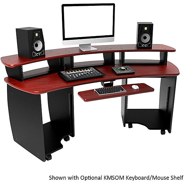 Omnirax Omnidesk Audio Video Editing Workstation Mahogany