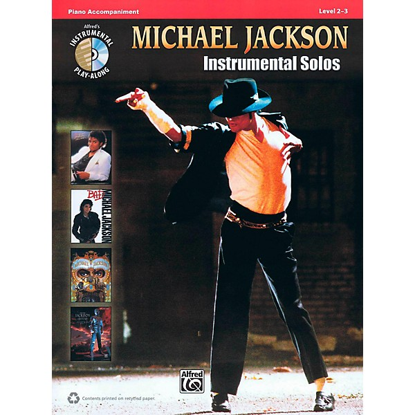 Hal Leonard Michael Jackson - Instrumental Solos Play-Along Piano  Accompaniment Book/CD