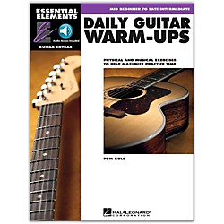 hal leonard daily guitar warm ups essential elements guitar book online audio music arts. Black Bedroom Furniture Sets. Home Design Ideas