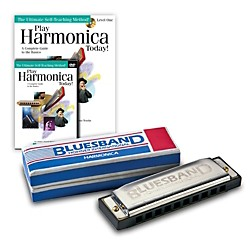 hohner blues band 1501 c harmonica and play harmonica today pack kit music arts. Black Bedroom Furniture Sets. Home Design Ideas