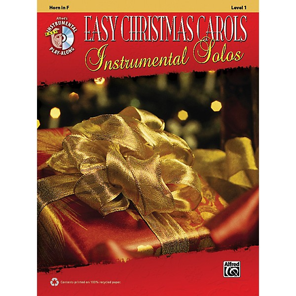 Alfred Easy Christmas Carols Instrumental Solos Horn in F Book & CD