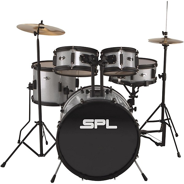 Sound Percussion Labs Kicker Pro - 5-Piece Drum Set with Stands, Cymbals  and Throne