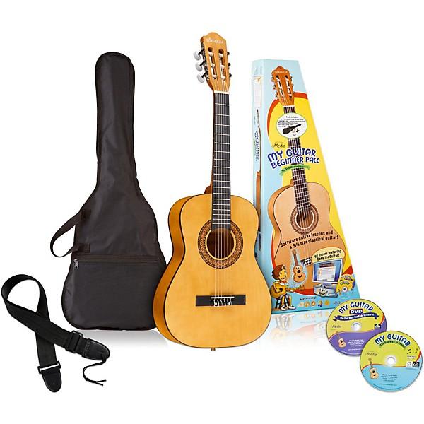 emedia my guitar 3 4 nylon string beginner acoustic guitar pack music arts. Black Bedroom Furniture Sets. Home Design Ideas