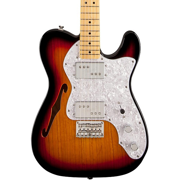 squier vintage modified 72 telecaster thinline maple neck electric guitar music arts. Black Bedroom Furniture Sets. Home Design Ideas