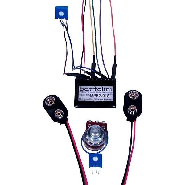 Bartolini BRMMPB2Kit/918 Magnetic and Piezo/Preamp with Pot Kit