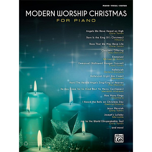 Alfred Modern Worship Christmas for Piano Songbook P/V/G Edition   Music & Arts