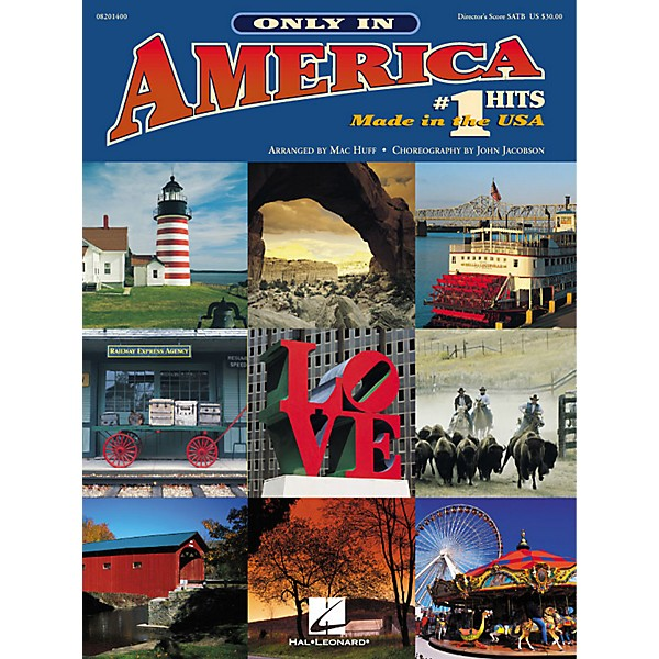 Hal Leonard Only in America (Choral Medley) (# 1 Hits Made in the U S A )  SAB Singer Arranged by Mac Huff