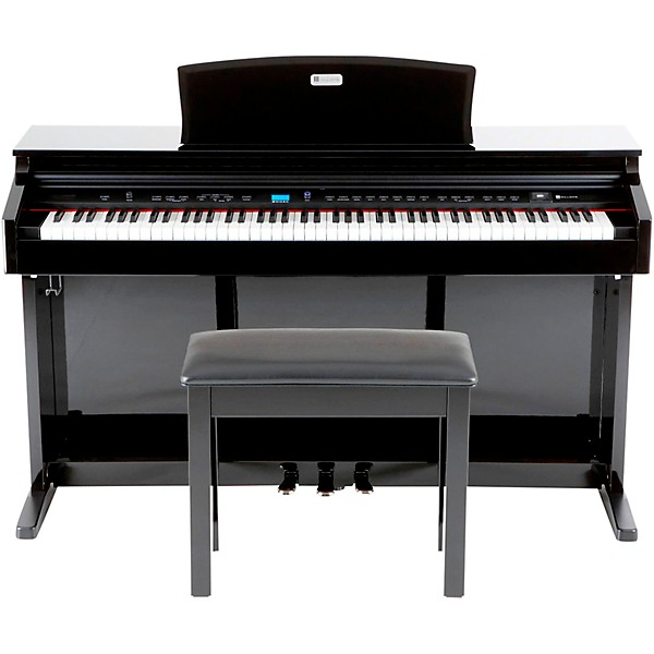 williams digital piano 88 weighted keys with bench music arts. Black Bedroom Furniture Sets. Home Design Ideas