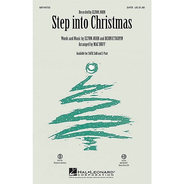 Step Into Christmas.Hal Leonard Step Into Christmas Showtrax Cd By Elton John Arranged By Mac Huff