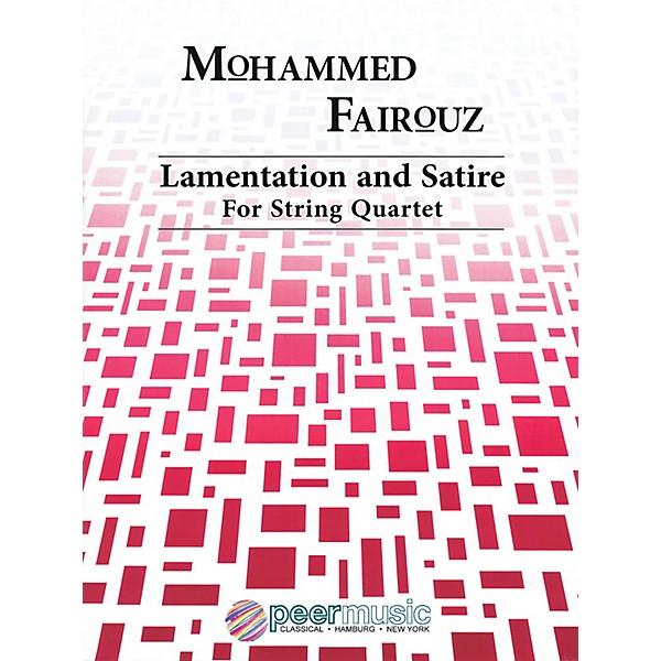 Peer Music Lamentation And Satire String Quartet Peermusic