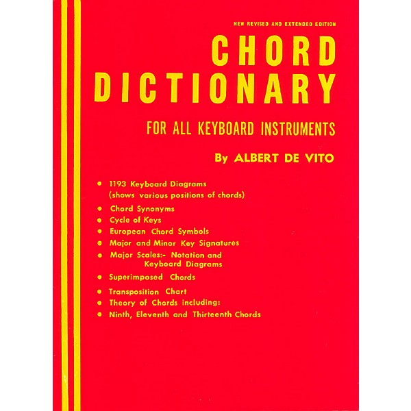 Kenyon Chord Dictionary for Keyboard Instruments (Reference Book) Piano  Method Series Composed by Albert De Vito