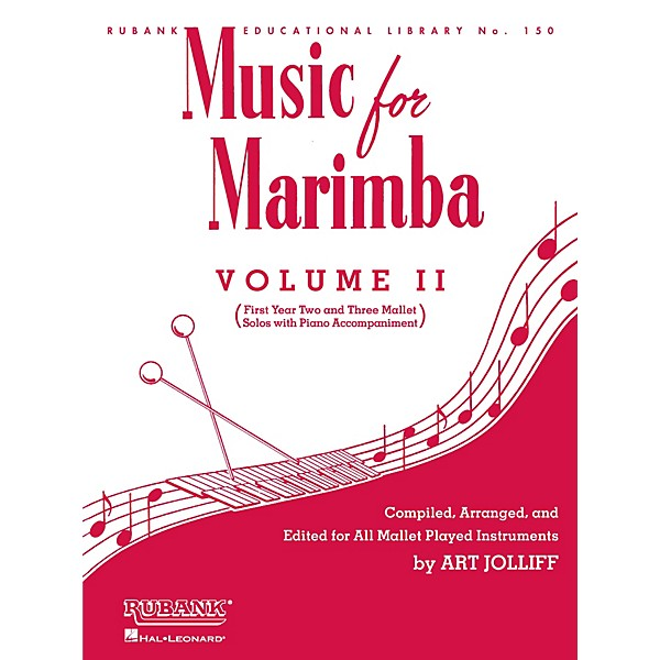 Rubank Publications Music for Marimba - Volume II Rubank Solo Collection  Series Softcover