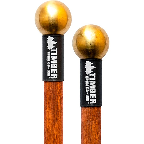 timber drum company hard brass bell mallets with birch handles music arts. Black Bedroom Furniture Sets. Home Design Ideas