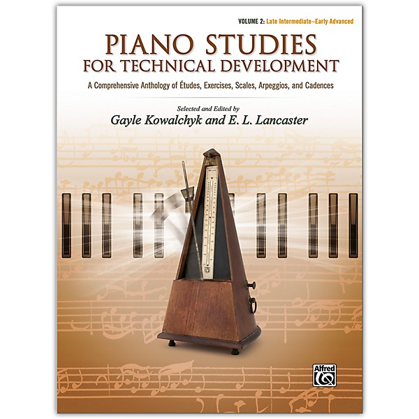 Alfred Piano Studies for Technical Development, Volume 2 Late Intermediate  / Early Advanced