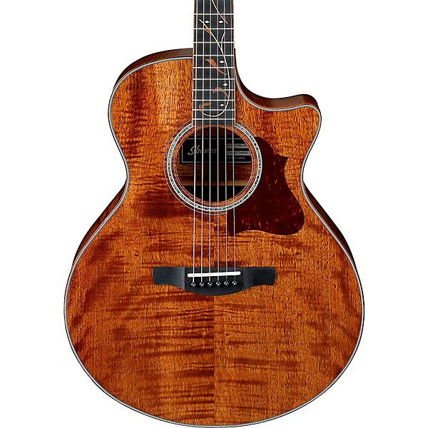 Ibanez Ae315fmh Exotic Solid Wood Acoustic Electric Guitar