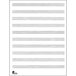 Music Sales Manuscript Paper No.2 24 Double Fold Sheets, 9X12, 10 Stave