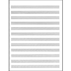 Music Sales Passantino Manuscript Paper #65 12 Stave, 32 Page ...