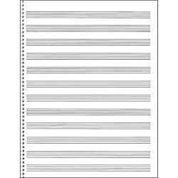 Music Sales Blank Staff Paper Tablature Music Arts