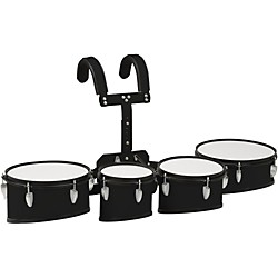 Sound Percussion Labs Marching Tenor Drum With Carrier MTD8023BK